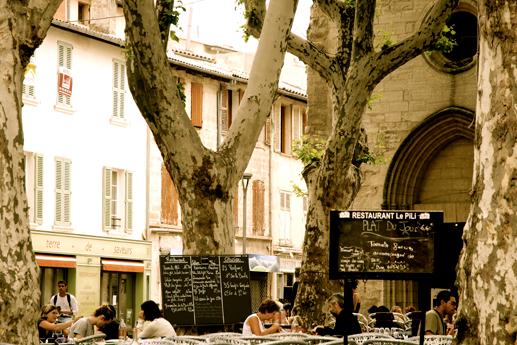 Place des Corps Saints à Avignon