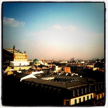 Vue de la terrasse le Délicieux Printemps Haussmann