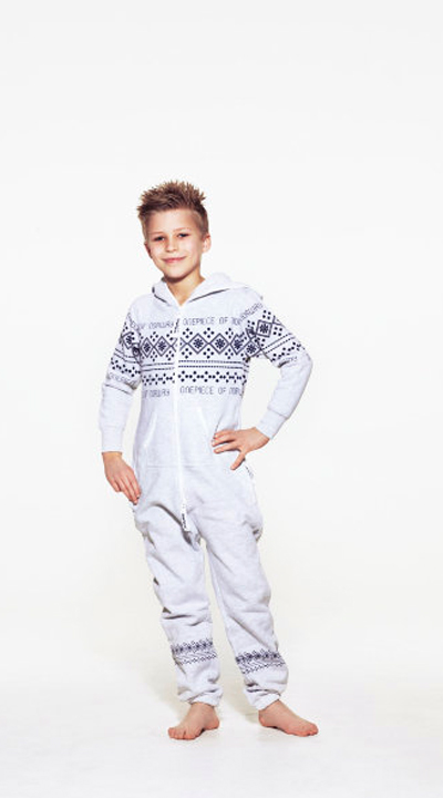 one piece lusekofte kids grey melange navy enfant 179€